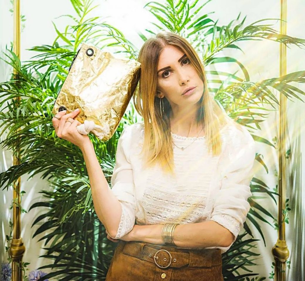 ZIZA Golden Clutch with Benedetta Rossi