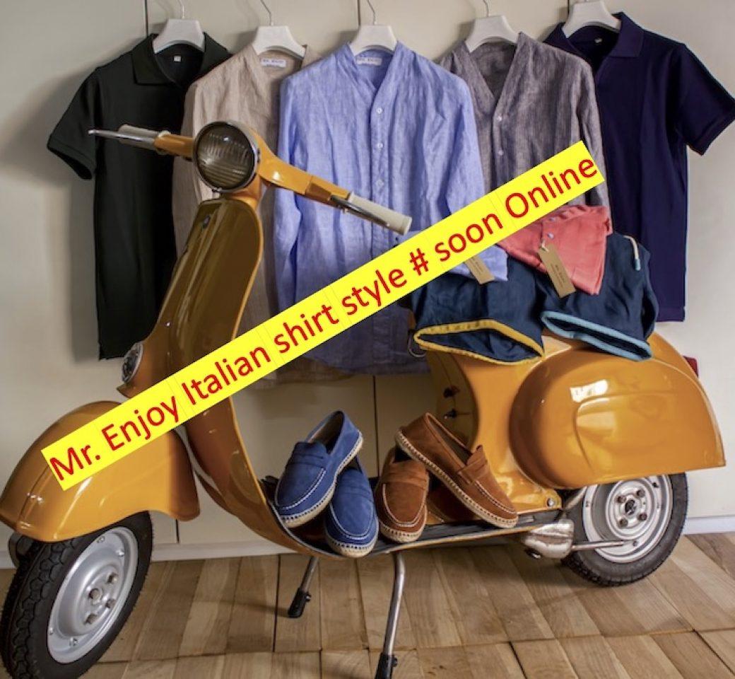 Mr. Enjoy Italian shirt style # soon Online